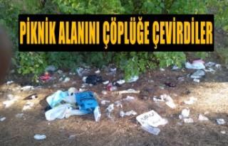 Piknik Alanını Çöplüğe Çevirdiler