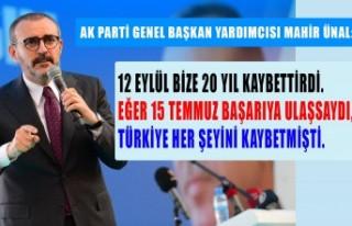 Ünal: Yedi Düvel Erdoğan İle Mücadele Ediyor