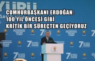 Cumhurbaşkanı Erdoğan: 100 Yıl Öncesi Gibi Kritik...