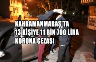 Kahramanmaraş'ta 13 Kişiye 11 Bin 700 Lira...