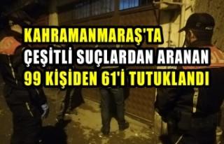 Kahramanmaraş'ta Aranan 61 Kişi Tutuklandı
