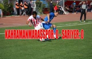 Kahramanmaraşspor: 0 - Sarıyer: 0