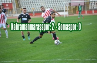 Kahramanmaraşspor: 2 - Somaspor: 0