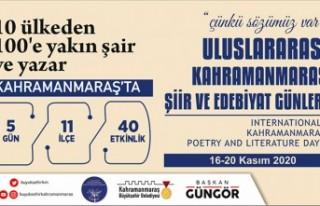 Uluslararası Şiir ve Edebiyat Günleri Başlıyor