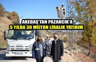 Akedaş'tan Pazarcık'a 5 Yılda 30 Milyon...