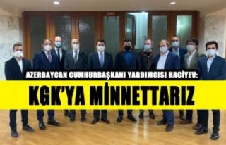 Azerbaycan CB Yardımcısı Haciyev: KGK'ya Minnettarız