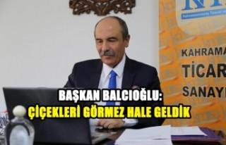 Başkan Balcıoğlu: Çiçekleri Görmez Hale Geldik
