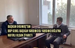 Başkan Okumuş'tan BBP Genel Başkan Yardımcısı...