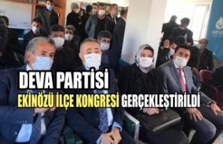 DEVA Partisi Ekinözü İlçe Kongresi Gerçekleştirildi