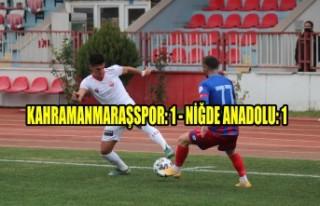 Kahramanmaraşspor: 1 - Niğde Anadolu: 1