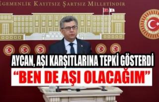 Milletvekili Aycan, Aşı Karşıtlarına Tepki Gösterdi