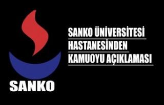 SANKO Üniversitesi Hastanesinden Kamuoyu Açıklaması