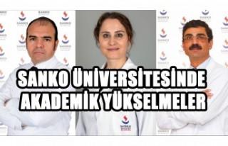 SANKO Üniversitesinde Akademik Yükselmeler