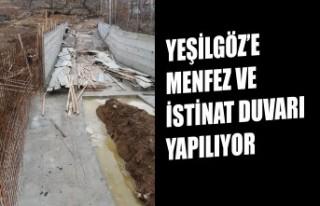 Yeşilgöz'e Menfez ve İstinat Duvarı Yapılıyor