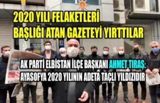 Başkan Tıraş: Ayasofya 2020 Yılının Adeta Taçlı...