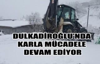 Dulkadiroğlu'nda Karla Mücadele Devam Ediyor