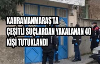 Kahramanmaraş'ta Çeşitli Suçlardan Yakalanan...