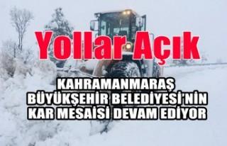 KMBB'nin Kar Mesaisi Aralıksız Sürüyor