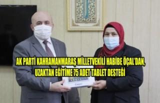 Milletvekili Öçal'dan, Uzaktan Eğitime 75 Adet...