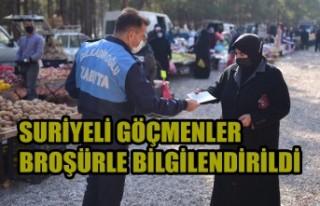Suriyeli Sığınmacılar Broşürle Bilgilendirildi
