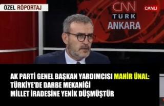 Ünal: Türkiye'de Darbe Mekaniği Millet İradesine...