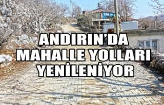 Andırın'da Mahalle Yolları Yenileniyor