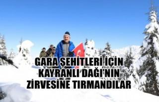 Gara Şehitleri İçin Kayranlı Dağı'nın Zirvesine...