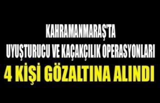 Kahramanmaraş'ta Uyuşturucu Ve Kaçakçılık...