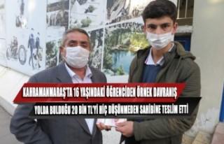 Kahramanmaraş'ta 16 Yaşındaki Öğrenciden Örnek...
