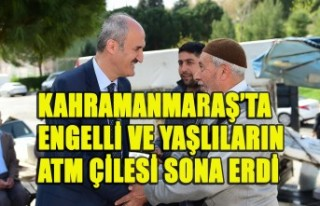 Kahramanmaraş'ta Engelli Ve Yaşlıların Atm Çilesi...