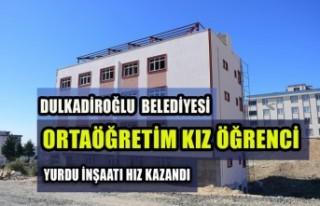 Ortaöğretim Kız Öğrenci Yurdu İnşaatı Hız...