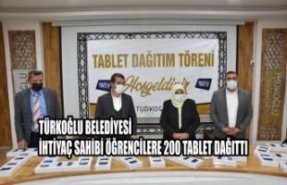 Türkoğlu Belediyesi, İhtiyaç Sahibi Öğrencilere...