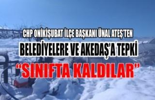 Ünal Ateş'ten Belediyelere ve Akedaş'a Tepki