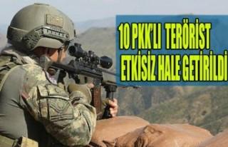 Fırat Kalkanı Bölgesinde 10 Terörist Etkisiz Hale...