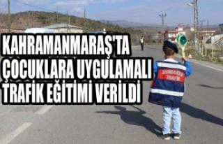 Kahramanmaraş'ta Çocuklara Uygulamalı Trafik...