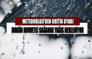 Kahramanmaraş'ta Bugün Kuvvetli Sağanak Yağış...