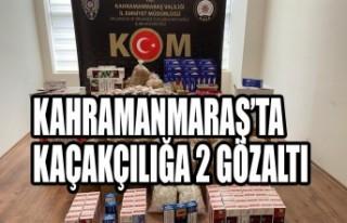 Kahramanmaraş'ta Kaçakçılığa 2 Gözaltı
