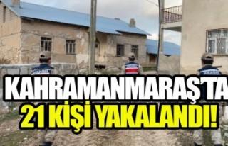 Kahramanmaraş'ta Narkotik Ve Huzurlu Sokaklar Uygulaması