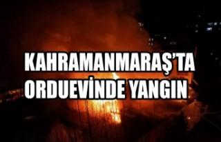 Kahramanmaraş'ta Orduevinde Yangın