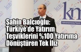 Şahin Balcıoğlu: Türkiye'de Yatırım Teşviklerini...