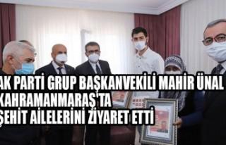 AK Parti Grup Başkanvekili Mahir Ünal, Kahramanmaraş'ta...