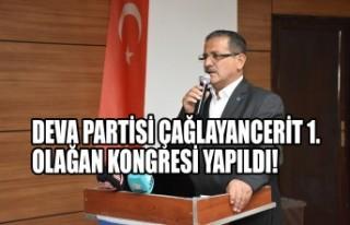 DEVA Partisi Çağlayancerit 1. Olağan Kongresi Yapıldı!
