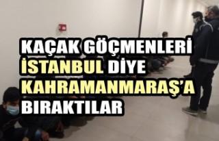 Kaçak Göçmenleri İstanbul Diye Kahramanmaraş'a...