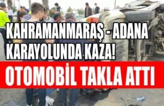 Kahramanmaraş - Adana Yolunda Kaza! Otomobil Takla...