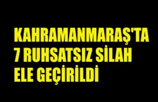 Kahramanmaraş'ta 7 Ruhsatsız Silah Ele Geçirildi