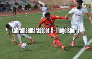 Kahramanmaraşspor: 0 İnegölspor: 1