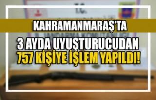 Kahramanmaraş'ta 3 Ayda Uyuşturucudan 757 Kişiye...