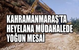 Kahramanmaraş'ta Heyelana Müdahalede Yoğun Mesai