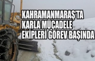 Kahramanmaraş'ta Karla Mücadele Ekipleri Görev...