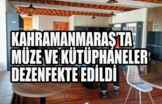 Kahramanmaraş'ta Müze ve Kütüphaneler Dezenfekte...